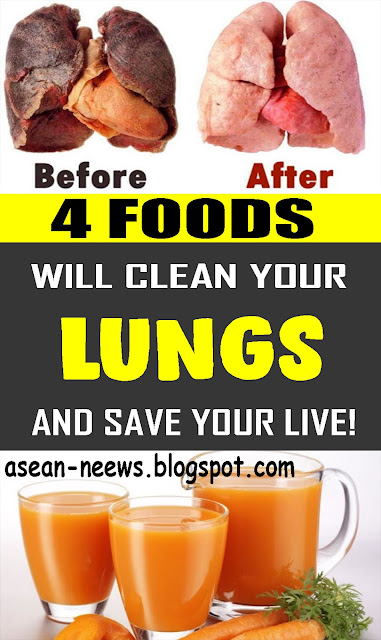 4 Foods That Will Clean Your LUNGS And Save Your Life!