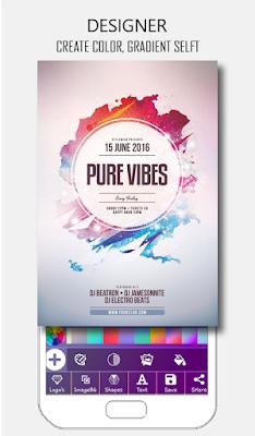 تطبيق Poster Maker  لتصمم ملصقات اعلانية من خلال هاتفك