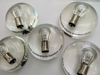 Promotional paperweights for an Electrician