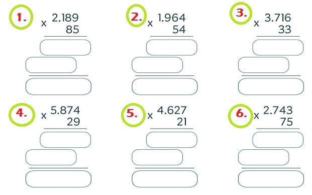 Matemáticas Problemas De Multiplicación Por Dos Cifras