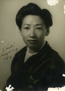 "Photo caption: Portrait of Hazel Ying Lee. ""To Heckle: Happy Landings"""