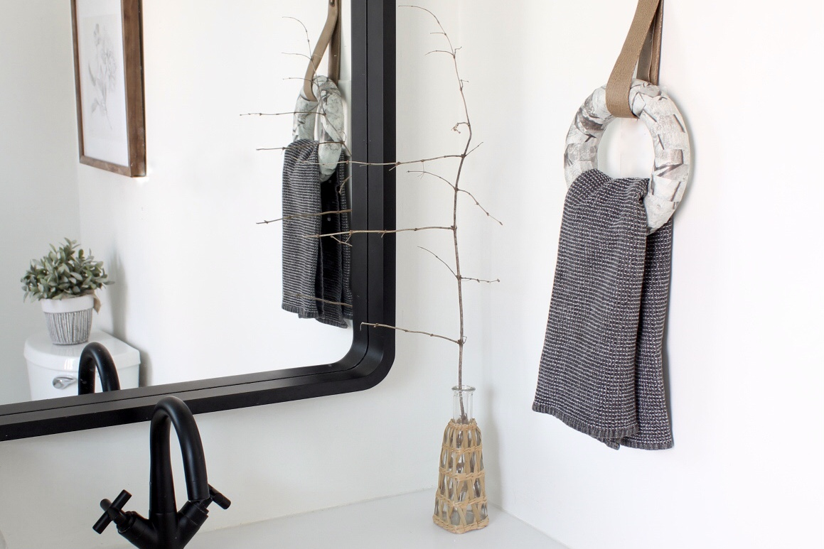 Bathroom Renovation with a DIY Towel Ring Holder