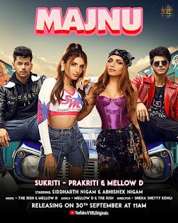 Majnu song,Sukriti Kakar,Prakriti Kakar,label Vyrl,entertainment news,song lovers,