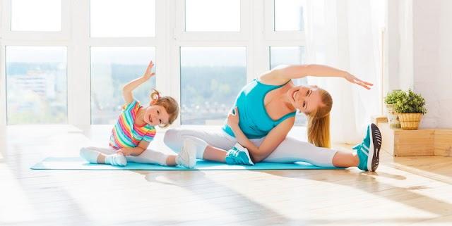 تمارين للأطفال من سن 5 إلى 15 سنة.