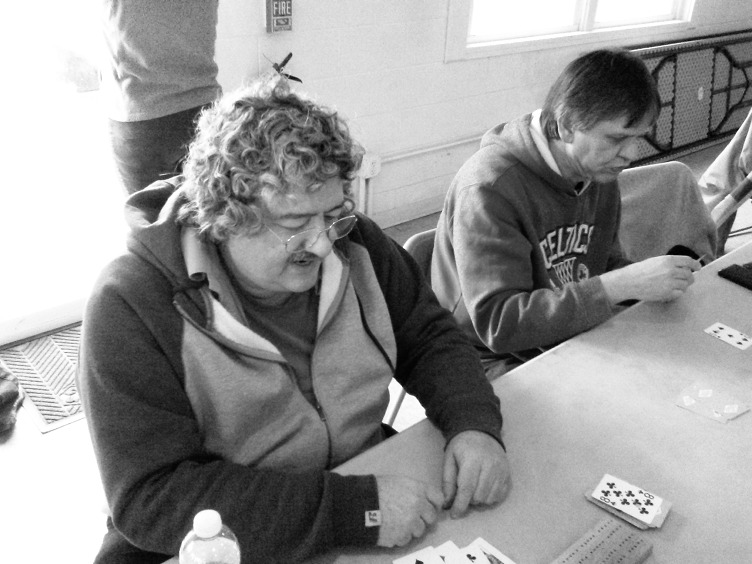 2017 City of Salem Cribbage Tournament: John Dumas (photo by Gabriel L. Daniels)