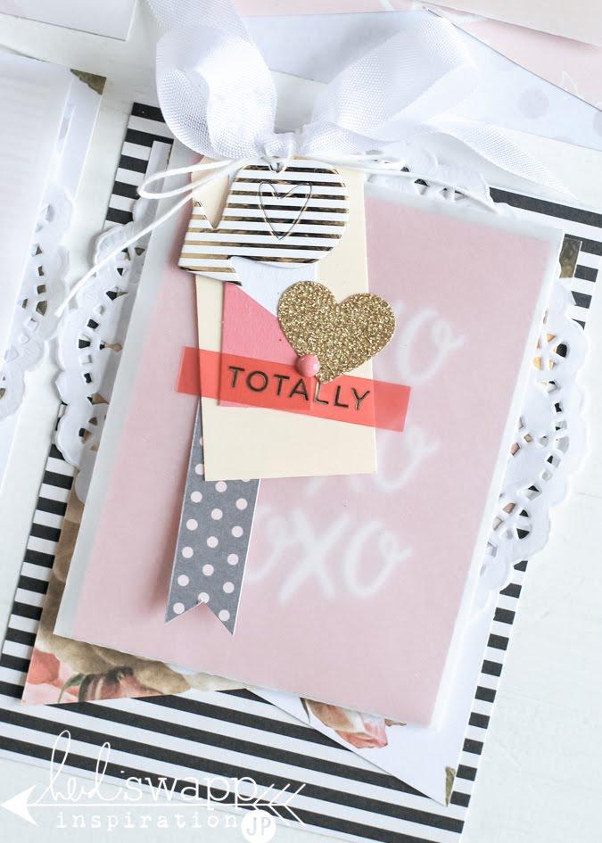 Heidi Swapp Minc Valentines Layered Cards | @jamiepate for @heidiswapp