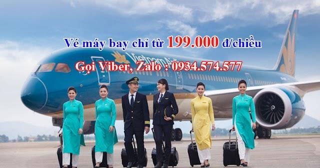 Vé máy bay trong nước Vietnam Airlines chỉ từ 199.000 đ/chiều