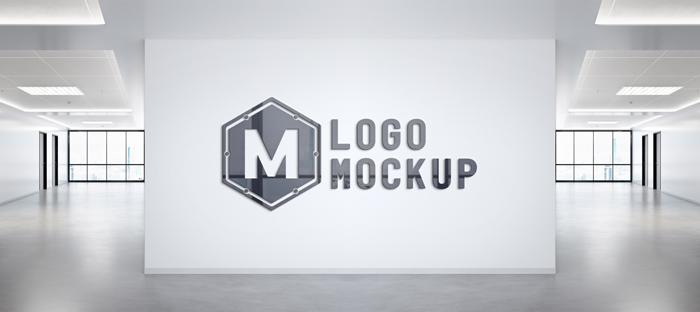 Logo PSD Office Wall Mockup