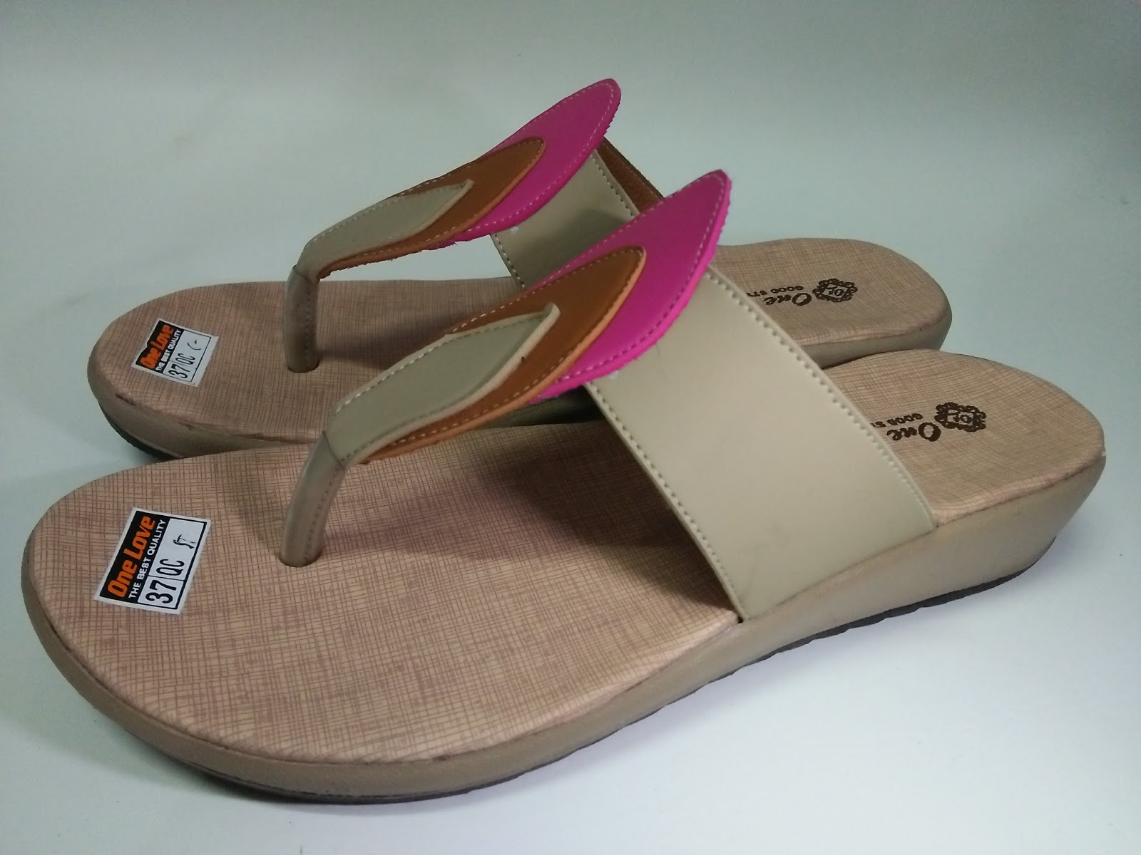 Grosir sandal cewek HS japit tunas sandal kulit sintetis ...