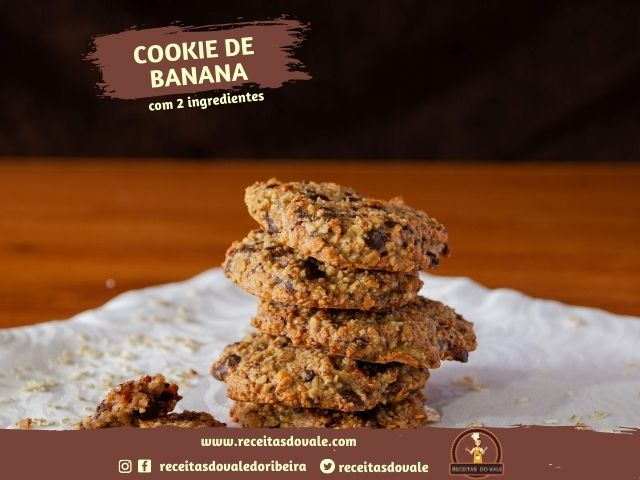 Receita de Cookie de Banana com 2 Ingredientes