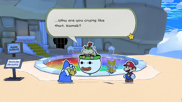 Paper Mario The Origami King why are you crying like that Kamek Bowser Jr.