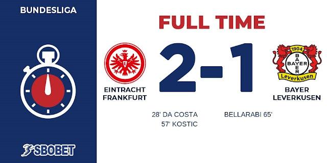 Replay Gol Eintracht Frankfurt vs Leverkusen Skor Akhir 2-1