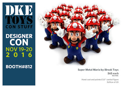 Designer Con 2016 Exclusive Super Metal Mario by iBreak Toys x DKE Toys