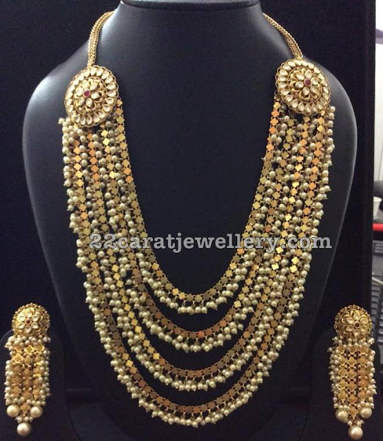 Multi Layer Fancy Long Set with Pearls
