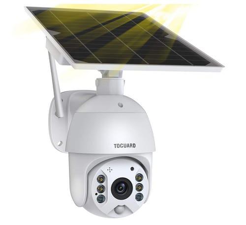 TOGUARD WiFi Solar Powered Battery PTZ Security Camera