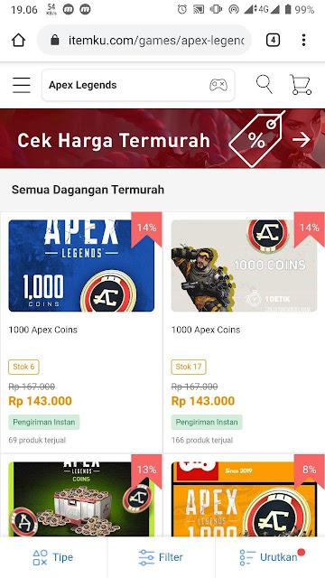 Seller penjual Apex Coin
