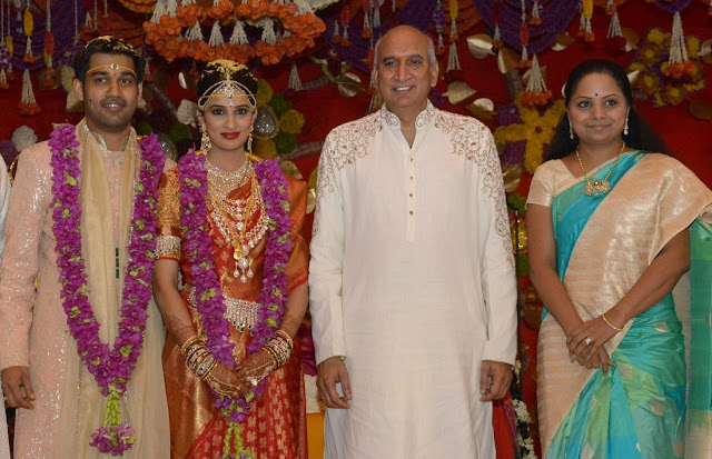 MP Kavitha at nimmagadda prasad daughter swathi wedding