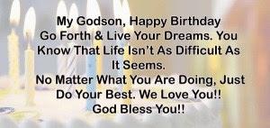 Birthday Wishes for Godson
