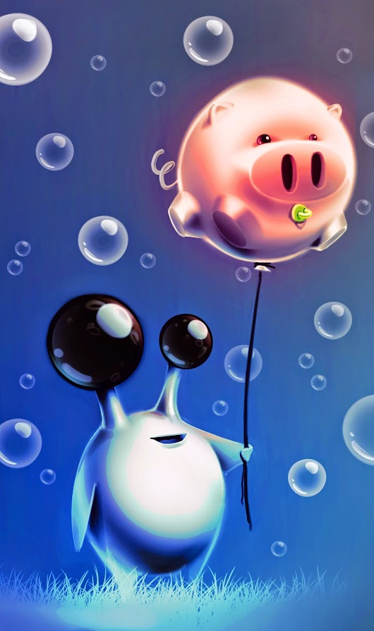 The little alien and the PIGballoon