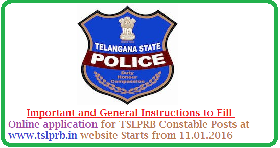 Telangana State Level Police Recruitment Board-TSLPRB | Precautions to fill Online Application at TSLPRB Official Website https://www.tslprb.in/  | Important and General Instructions to fill Online Application for Recruitment of Constable Posts in Telangana | Telangana State Level Police Recruitment Board TSLPRB Recruitment Proceasure to Apply Online at https://www.tslprb.in/ http://www.tsteachers.in/2016/01/instructions-to-fill-tslprb-online-application-for-constable-posts.html