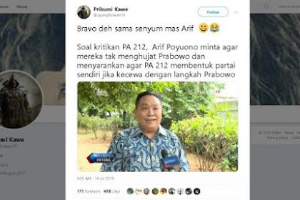 Suruh PA 212 Jadi Partai, Senyum Elite Gerindra Arief Poyuono Jadi Sorotan