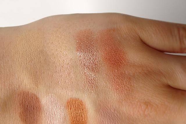 recenzja paletki cieni glamshop goła