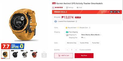 Garmin Instinct GPS Activity Tracker Smartwatch
