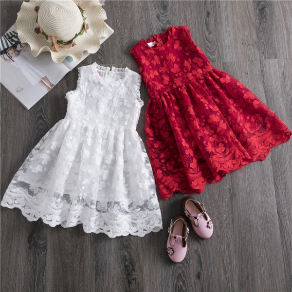 Girls Clothes Lace And Ball Design Baby Girls Dress Party Dress For 3-8 Years Infant Dresses