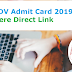 CWC DV Admit Card 2019 Out - Get Here Direct Link