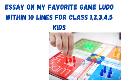 Essay on My Favorite Game Ludo