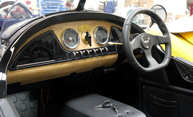 Morgan EV3 interior