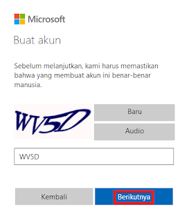 Verifikasi Captcha Email Outlook