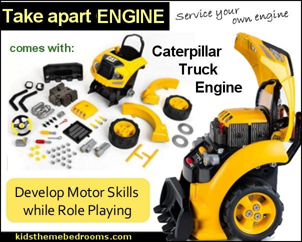 Caterpillar Truck Engine little mechanics toys diesel mechanic toys car engine toys construction truck toys