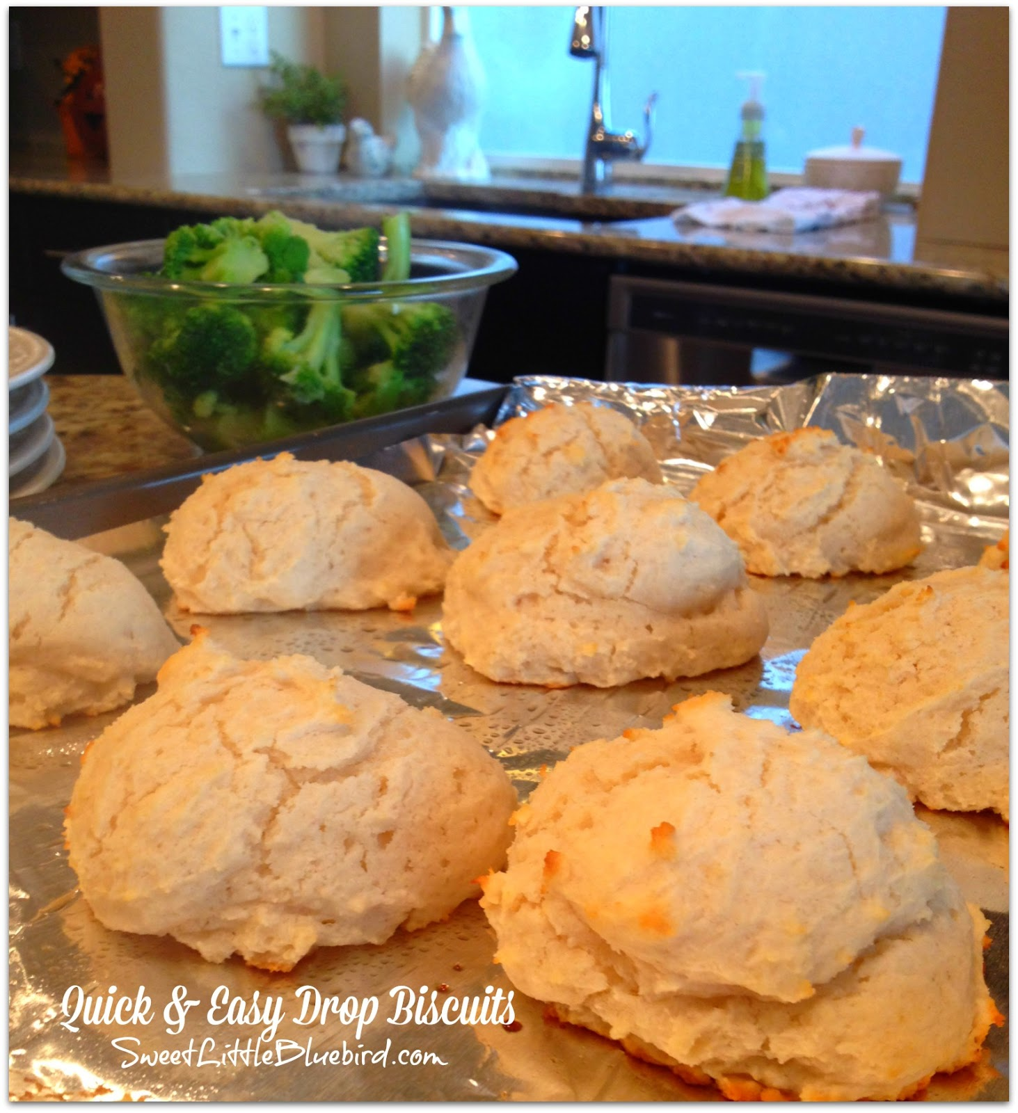 Quick and Easy Drop Biscuits - Sweet Little Bluebird