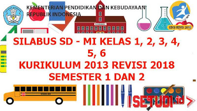 Silabus Kelas 1,2,3,4,5,6 SD - MI Kurikulum 2013 Revisi 2018
