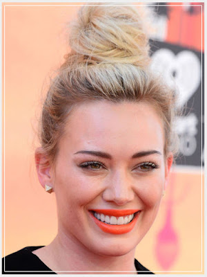 Hilary Duff/ orange lipcolor/ orange lipstick