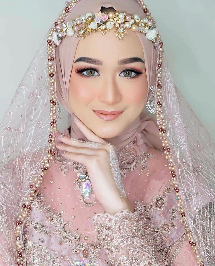 tutorial hijab pengantin 2021
