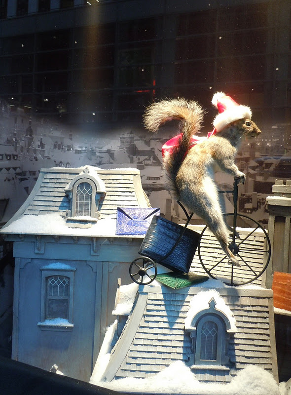 Bergdorf Goodman festive squirrel