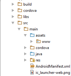 Build PhoneGap Project with AndroidStudio In using Gradle Build 1