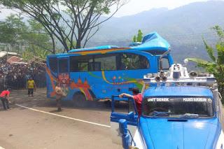 Analisa Sementara, Bus Masuk Jurang di Sukabumi Tidak KIR Sejak 2016. Walah!