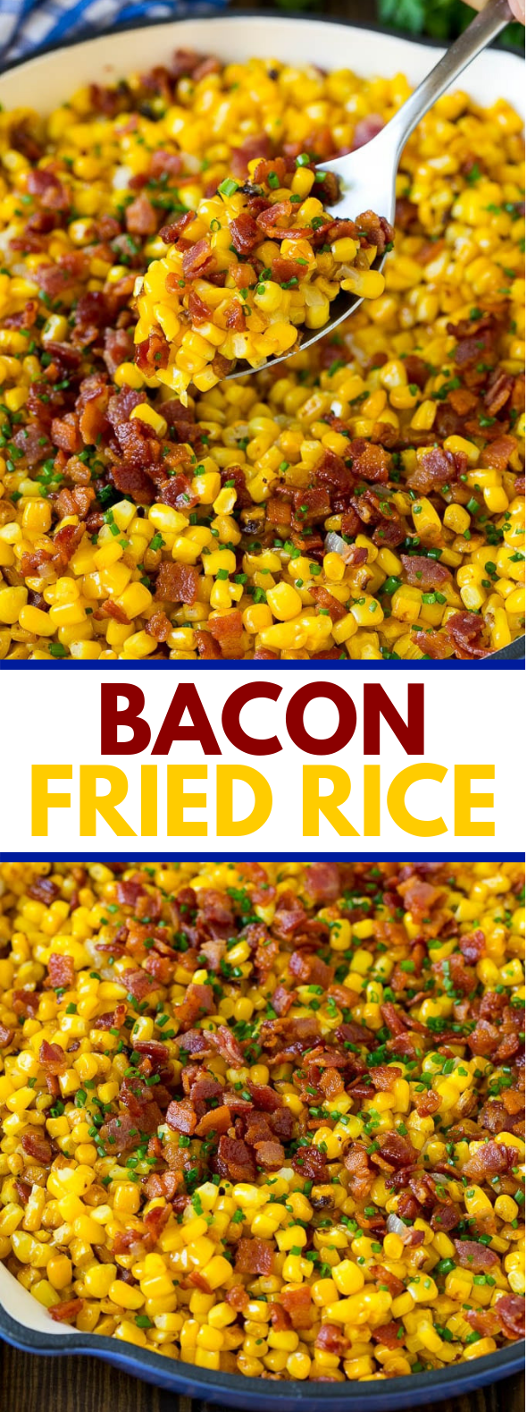 FRIED CORN WITH BACON #dinner #easysummer