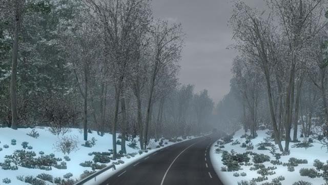 ets 2 frosty winter weather mod screenshots 2