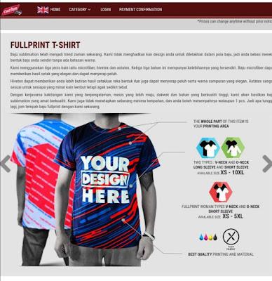 Mencetak Baju Rekaan Sendiri Secara Online, Mudah Sangat Di Custom.MY