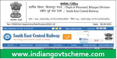 Indian Railway SECR Bilaspur Apprentice