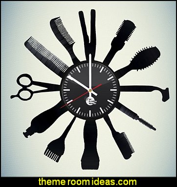 Hairdresser Handmade Vinyl Record Wall Clock Fun gift Vintage Unique Home decor Art Design Retro Interier