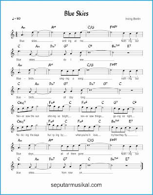 blue skies lagu jazz standar