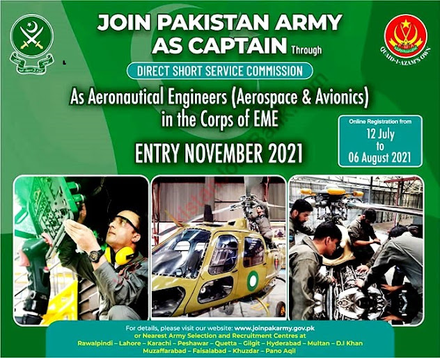 Join Pakistan Army as Captain – Pak Army Jobs 2021-Apply online