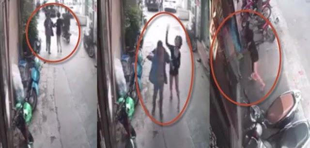 Bị sàm sỡ giữa phố Hà Nội, chân dài đánh kẻ bệnh hoạn tơi tả