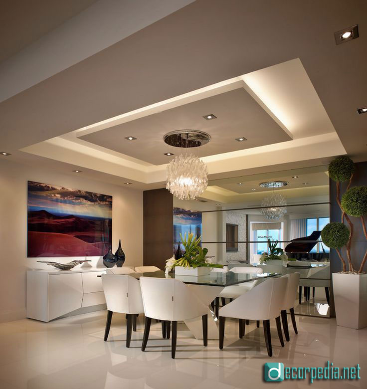 Dining Room Ceilings: Latest False Ceiling Design Ideas For Modern Room 2019