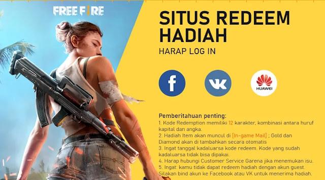 Kode Redeem Games Free Fire (FF) Pada Desember 2019 Terbaru